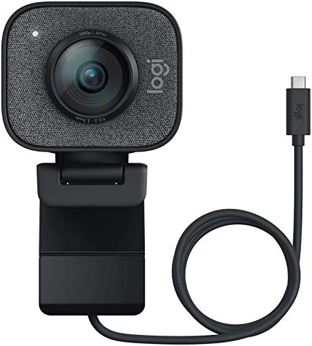 Logitech StreamCam, 1080P HD 60fps Streaming Webcam with USB-C and Built-in Microphone, Worldwide Version, Chinese Spec (Graphite)