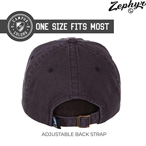 Zephyr Adult NCAA All-American Relaxed Adjustable Hat (North Carolina Tarheels - Navy)