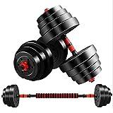 N+B Fitness casero con Mancuernas para Hombres, un par de 10 kg con Barra Variable