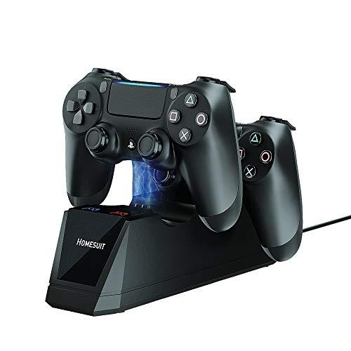 Homesuit Dual USB-Ladegerät Dockingstation Ständer für Sony Playstation 4 PS4, PS4 Slim, PS4 Pro Controller
