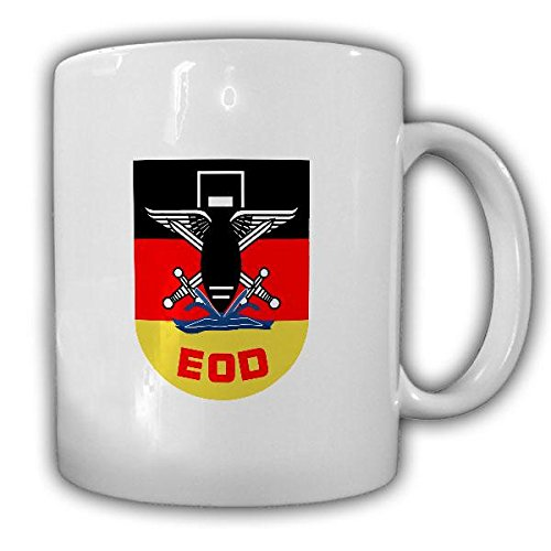 Tasse EOD Bundeswehr Pionier Kampfmittelbeseitigung Sprengmeister Explosive Ordance Disposal Wappen #21651