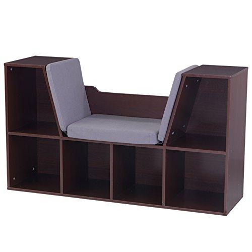 KidKraft Bookcase with Reading Nook Toy, Espresso