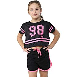 A2Z 4 Kids Kids Girls 98 Crop Top & Shorts Set Yoga Gymwear Belly Shirts 2 Piece Workout Jogging Suit Summer Outfit Sets. A2Z 4 Kids Is Our Registered Trade Mark, It Is Exclusive To Our Amazon Shop Only. Trendy Fashion Crop Top, Stylish Contrast Rib ...