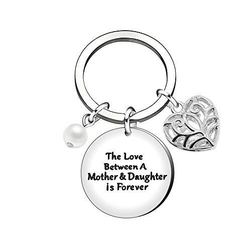 Schlüsselanhänger für Mütter, Muttertagsgeschenke, Mutter-Tochter-Geschenke, Schlüsselhalter, Perlen-Schlüsselanhänger
