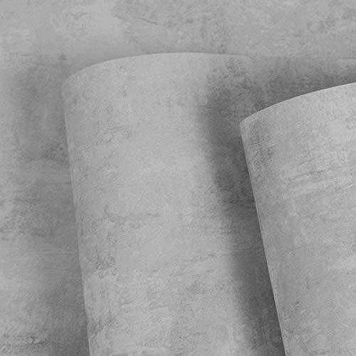 Papel Pintado Retro Sólido Liso Nostálgico Estilo Industrial Vinilos Decorativos Restaurante Tienda de Té Peluquería Tienda de Ropa Blanco 53X1000cm(20.8X393.7inches)