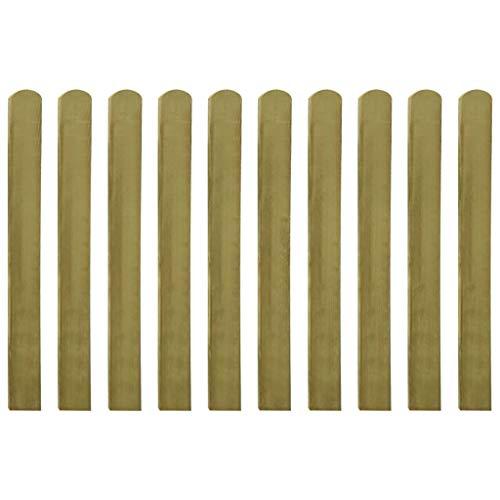 vidaXL 20x Legno Impregnato di Pino FSC Stecche per Recinto Robuste Immarcescibili Recinzione Staccionata Barriera Giardino Patio 100 cm