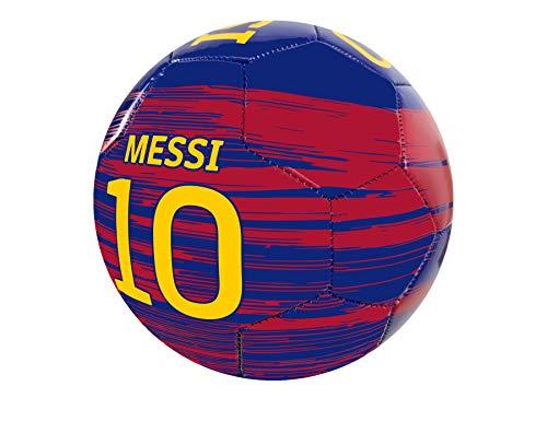 Icon Sports Messi Ball Größe 4 mit Unterschrift, lizenzierter Barcelona Messi Fußball #4
