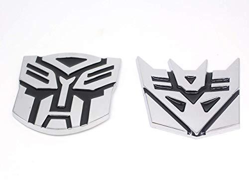 Aoderda Transformers 3D Stijl Pure Metalen auto Decoratieve Stickers Decal Ornament Badge 1 Paar 3