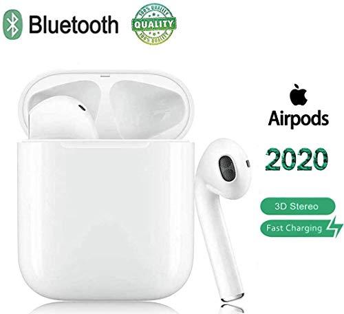 Bluetooth Kopfhörer,In-Ear Kabellose Kopfhörer,Bluetooth Ohrhörer,Sport-3D-Stereo-Kopfhörer,mit 24H Ladekästchen und Integriertem Mikrofon Auto-Pairing Kompatibel mit Android/iPhone