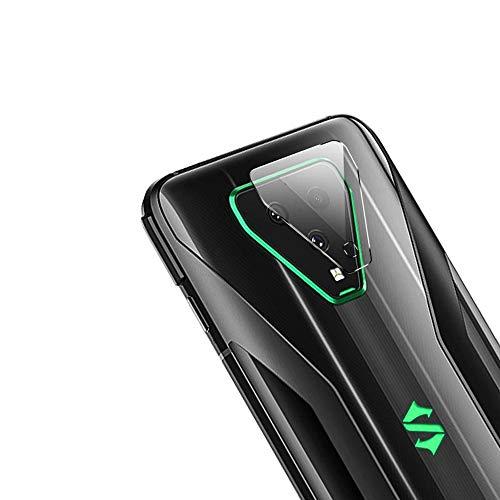Boleyi Zurück Glas Kamera Objektivschutz für Xiaomi Black Shark 3, [Schützen Sie die Hintere Kamera], Flexibler Gehärtetes Glas Protector Folie. (3 Stücke, Transparent)