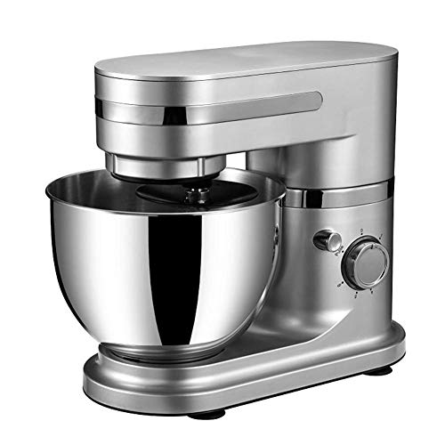 Practical Cake Mixer, Professional Food Mixer, 700W Power, 6 + P Speed Running, 4.5L, Can Be Used for Milkshake, Mixing, Mixing And Noodles, Silver Grey