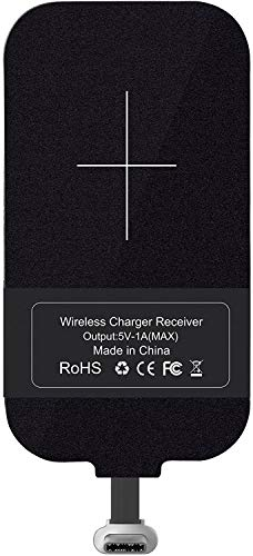 Tipo C Qi Receptor de carga inalámbrico, Ultra delgado USB C Qi...