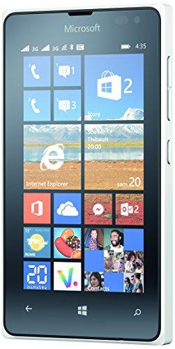 Microsoft Lumia 435 Smartphone, entsperrt, 3G+, Bildschirm: 11,4cm / 4Zoll, 8GB, Dual SIM, Windows Phone 8.1