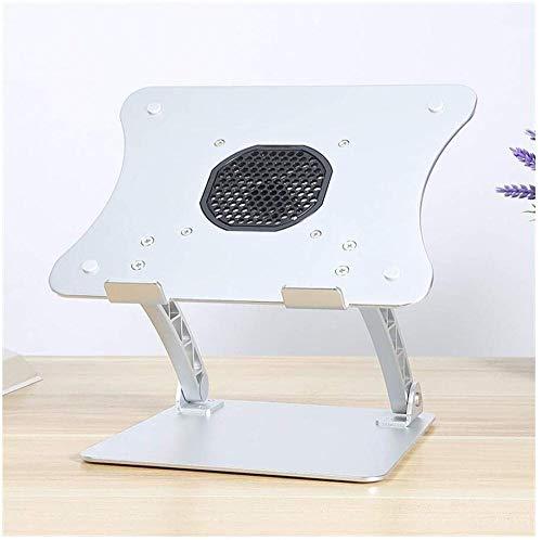 Soporte portátil ajustable para portátil con ventilador ajustable para MacBook Pro/Air Dell, XPS, HP, Samsung, Lenovo y otros portátiles de 11 a 17 pulgadas, T-Silver