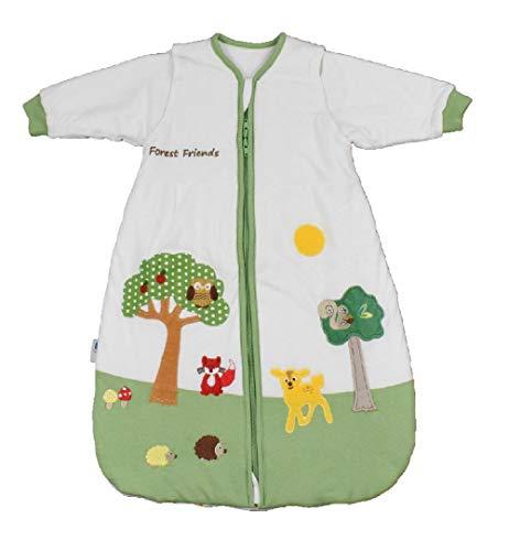 Schlummersack Babyschlafsack Vierjahreszeiten mit abnehmbaren Ärmeln in 2.5 Tog - Waldtiere - 90 cm / 6-18 Monate