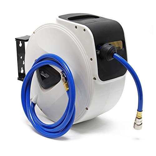 Druckluft Schlauchtrommel mit 15m Druckluftschlauch Automatik Schlauchaufroller