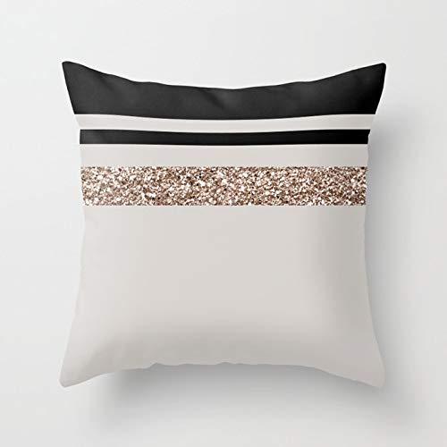 Rosguld prydnadskudde fodral ananas hjärtform geometriskt kuddöverdrag hem soffa kuddöverdrag kuddöverdrag A17 45 x 45 cm 2 st