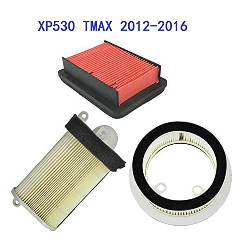 Liupin Store Los filtros de aire de la motocicleta de 3 unids incluyen 1º Limpiador lateral izquierdo a la derecha FIT PARA YAMAHA SCOOTER XP530 TMAX BLACK MAX IRON MAX 2012-2016 Materiales de calidad