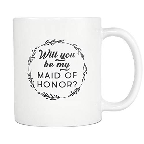 """Lplpol Tasse mit Aufschrift """"Will You Be My Maid of Honor"""" für Trauzeugin #A748, 325 ml"""
