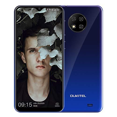 OUKITEL C19 (2020) Smartphone ohne Vertrag, 6,49 Zoll 2GB+16GB Handy, 4000mAh Akku 13MP Quad Kamera, 4G Dual SIM Android 10, 256GB erweiterbar (Gradient)