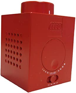 LEGO Red Brick Block AM/FM Radio with Built in Speaker Stackable