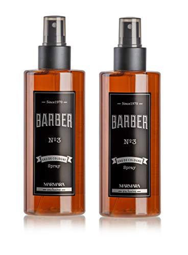 BARBER MARMARA No.3 Eau de Cologne Pump-spray Herren (2x 250ml) After Shave Men Duftwasser Rasierwasser Männer, Erfrischt kühlt langanhaltender Duft Herren Desinfizierend 70% Alkohol