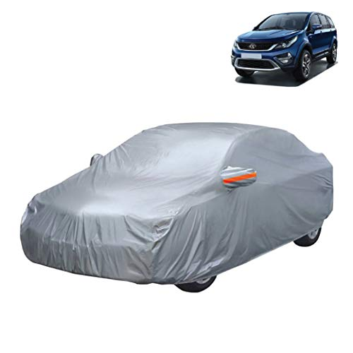 myTVS CBC-1 Universal Size Car Body Cover'20 (100% Waterproof Material) with Mirror Pockets for Hexa Tata