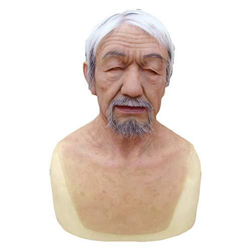 FHSGG Realista Cabeza Completa máscara Masculina para
