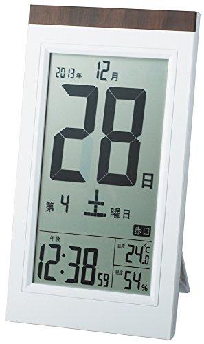 ADESSO(アデッソ) 目覚まし時計 日めくり 電波時計 六曜 温度 湿度 日付表示 記念日設定機能付き 置き掛け...