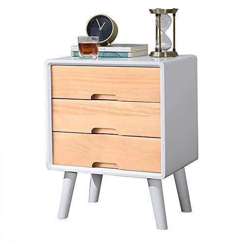 Nachtkastje met lade – tafel van hout – nachtkastje – poten van massief hout – hoekontwerp – veiligheidsgreep – handvat met arco – eenvoudig te plaatsen