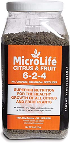 MicroLife Citrus & Fruit (6-2-4) Professional Grade Granular Organic Biological Fertilizer, 7 LBS