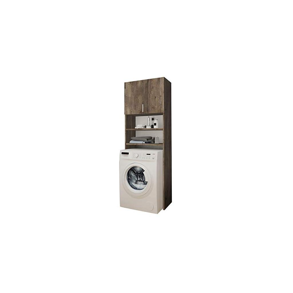 Selly Home Meuble de Rangement Machine a Laver – Meuble Colonne Salle de Bain – Etagere Rangement – Commode pour Machine…