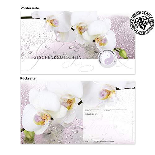 10 Gutscheinkarten Geschenkgutscheine. Gutscheine für Massage Wellness Spa Kosmetik Kosmetikstudio. MA1261 geschenkgutschein gmbh