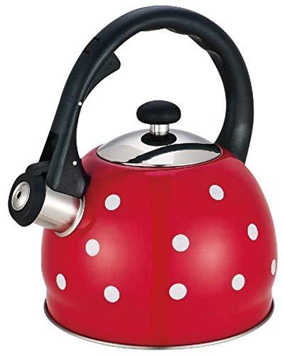 Kinghoff 2 Liter Retro Flötenkessel Whistling Kettle Pfeifkessel Teekanne Pfeifenkessel Wasserkessel Schwaz