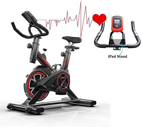 HRUI Bicicleta Estatica Interior Bicleta de Gimnasio Ajustableequipo Volante de inercia 8kg Monitor LCD Adultos Unisex Máx.150kg para Estudio,Cardiovascular, Ciclismo, hogar, Gimnasio