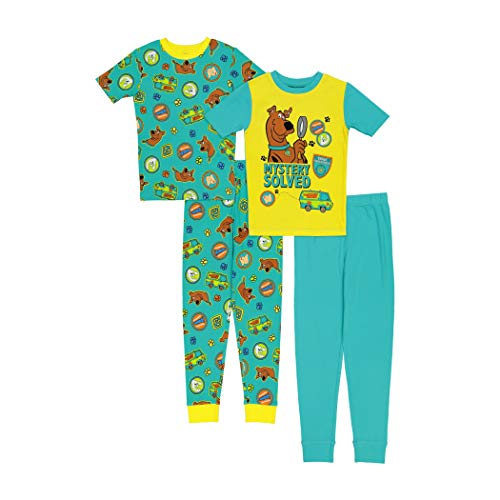 Scooby Doo Boys' Snug Fit Cotton Pajamas, Solved Mystery, 6
