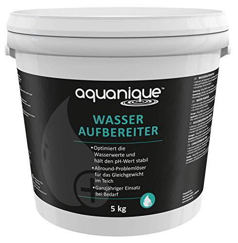 AQUANIQUE Wasseraufbereiter 5.000 g (für 50.000 l) Teichwasseraufbereiter Teich Optimierer stabilisiert pH-Wert im Teich Fischteich Koiteich Schwimmteich
