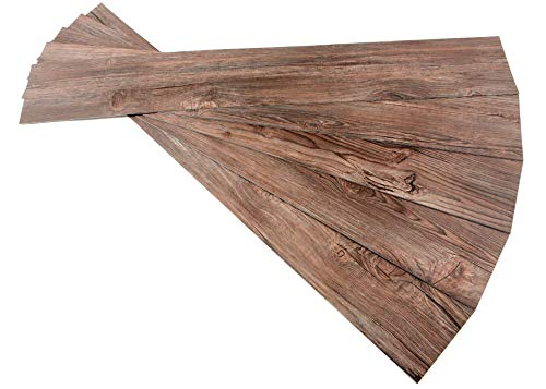 ROSEROSA Peel and Stick Engineered PVC Plank Wood Pattern Durable Vinyl Flooring (ECK-907 : 5 Planks)