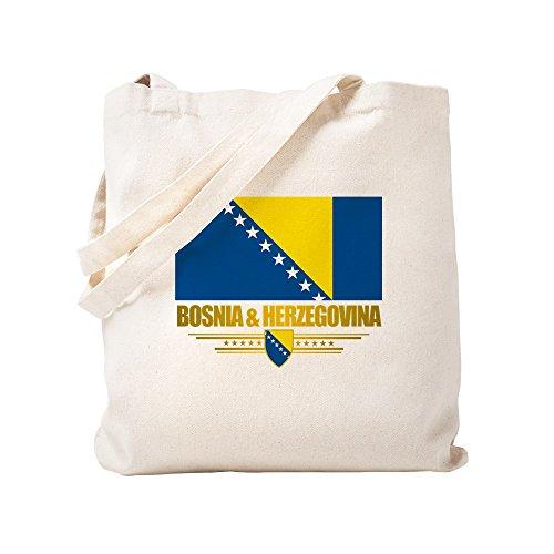 CafePress Einkaufstasche mit Flagge von Slowenien & Herzegowina, canvas, khaki, S