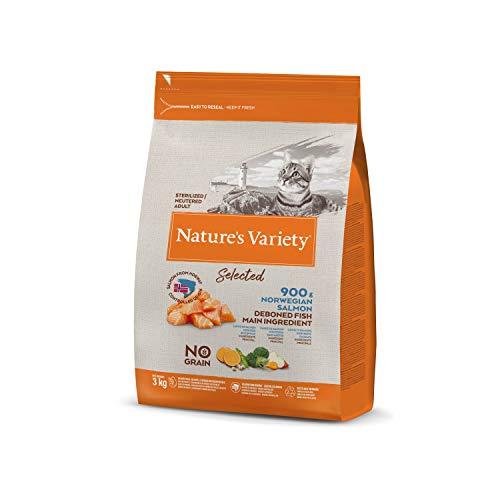 Nature's Variety Selected - Pienso para gatos esterilizados con salmón noruego sin espinas 3 Kg ✅