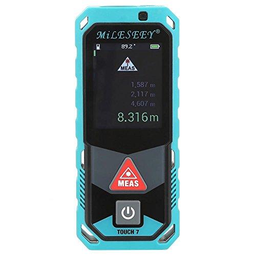 Akozon Bluetooth laser afstandsmeter T7 draagbare afstandsmeter afstand bereik volume meter driedimensionale afstand Smart camera visualiseer gegevens self-sensing