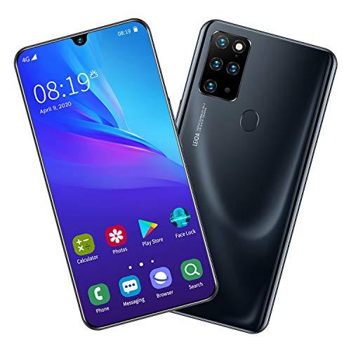 S20 Smartphone ohne Vertrag Günstig (7.5 Zoll) HD, 4800mAh, 8GB RAM 256GB ROM, Android 9.0, WLAN 5G, Fingerabdruck, Face ID, Dual SIM Handy,Black
