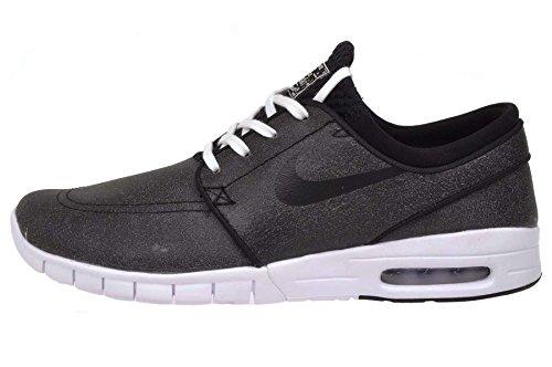Nike Mens Stefan Janoski Max L PRM Black/Black-White-Wolf Grey 833530 001 - Size 10