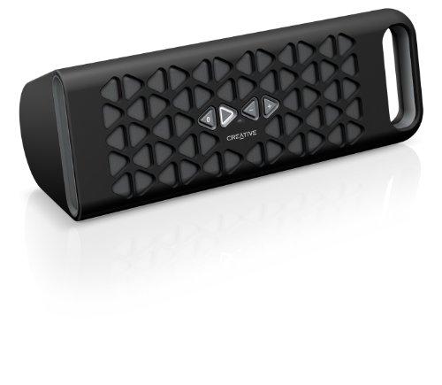 Creative MUVO 10 Mobiler Bluetooth-Lautsprecher (NFC, 3,5mm Klinke, Micro-USB) für Smartphone und Tablet schwarz