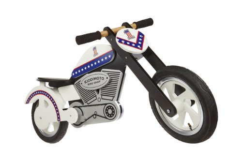 KIDDIMOTO Bici Senza Pedali in Legno Chooper, Uomo, Chooper, Evel Knievel