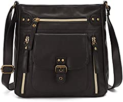 KL928 Crossbody Bags for Women Shoulder Purses and Handbags, PU Washed Leather
