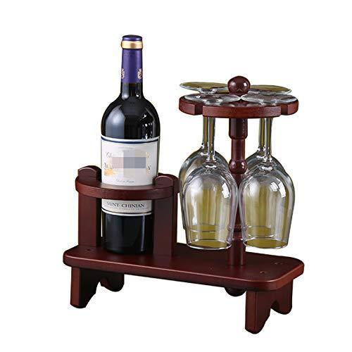 JTRHD Casier à vin de Bouteille Creative Wine Rack Verre Vin de vin Racques de cuve de cuillère en Bois Supports de vin pour Armoire/Placard/comptoir (Couleur : Marron, Size : Medium)