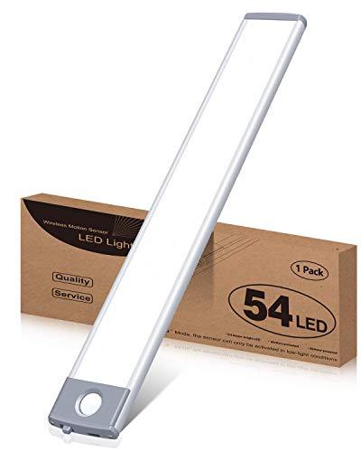 LED Sensor Licht Schrankleuchten, Wiederaufladbar Schranklicht mit Bewegungsmelder,...