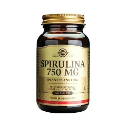 ESPIRULINA 100 Tablets 750 mg Solgar