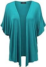 MBJ Womens Short Sleeve Dolman Cardigan XL Jade